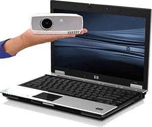 projector laptop kijelzo