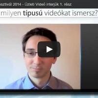 Üzleti videó a Magyar Marketing Fesztivál előadásai között