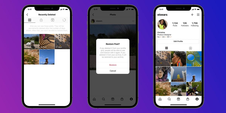 30 napig még vissza lehet állítani az Instagramról törölt posztokat