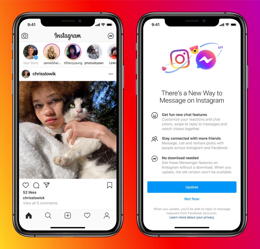 Összekötötték a Messengert az Instagrammal