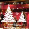 Karácsonyi ablakdekoráció üzleteknek