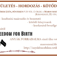 SZÜLETÉS - HORDOZÁS - KÖTŐDÉS: október 12., péntek