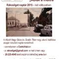 Rákosliget 2015 - Ablak a múltra : támogató naptár