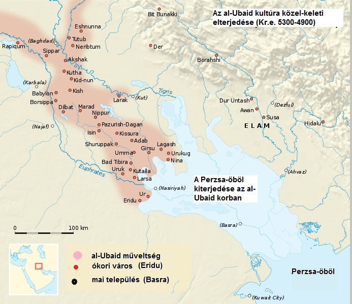 Az al-Ubaid-műveltség közel keleti kiterjedésel.jpg