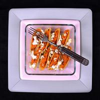 Édesburgonyás tészta sült fokhagymával és fetával