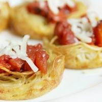 Gyors spagetti kosárkák