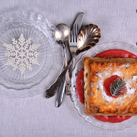 Karácsonyi tészta torta, eperöntettel