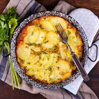 Krumplis, tojásos lepény