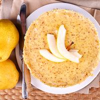 Gesztenyés, vaníliás tészta torta