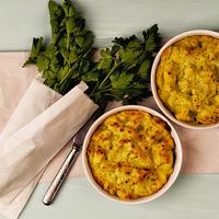 Karfiolos, brokkolis rakott tészta