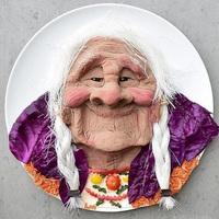 Nagymama a tányéron