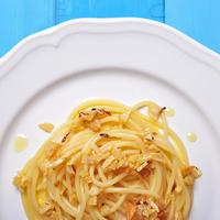 Fokhagymás, olívás spagetti