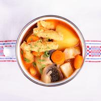 Krumplileves gombával és galuskával