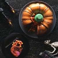 Halloween tök torta