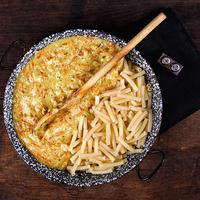 Répás, sajtkrémes csirkemell tésztával