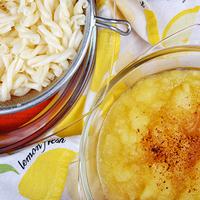 Almaszószos tészta