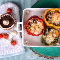Brokkoli rizottós fűszeres hússal töltött pritaminok – videó blog