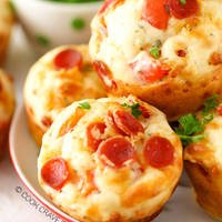 Minipizzák a muffinformából