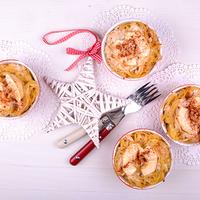 Fahéjas, almás, túrós tészta
