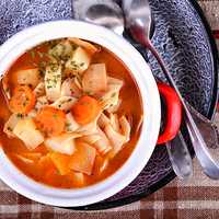 Extra gyors pirított tészta leves