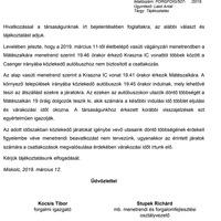 Fontos információk az esti Kraszna Intercity utasainak.