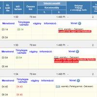 Műszaki probléma miatt kimaradt két hajnali járat Mátészalka és Debrecen között.