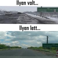 Kijavították az utat: nem kell szlalomozni már Csengersimánál.