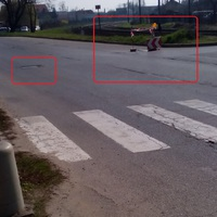 Komoly balesetveszély  a Kórház utcán