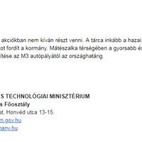 Már hivatalos: Dr. Mosóczi meghártált, nem tárgyal a Mátészalka-Debrecen vasútvonalról.