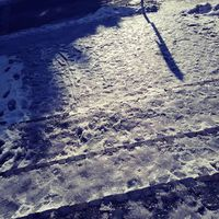 Elesett a jeges gyalogos átkelőhelyen, mentő vitte el.
