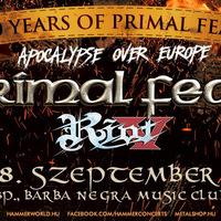 POWER METAL APOKALIPSZIS: Primal Fear és Riot V szeptemberben Budapesten!