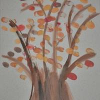 Elkészült az ujjlenyomatos fa őszi verziója