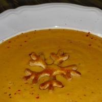 Répakrém leves, hópehellyel