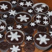 Csupa csoki muffin hópelyhekkel