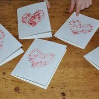 Szívecskés kártyák