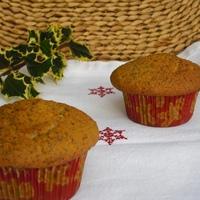 """Karácsony visszaszámlálás megkezdődött ---- Mákos muffin vörös áfonyás """"szívvel"""""""