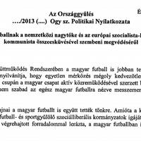 Vicces kedvű képviselők szopatják a magyar focit a Parlementben