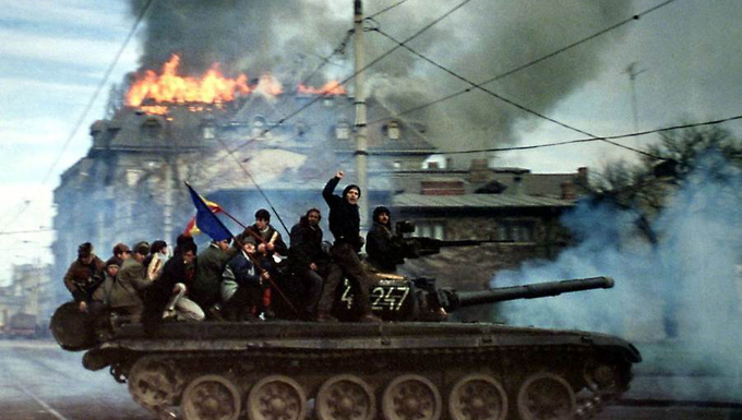 Az 1989-es romániai forradalom képekben