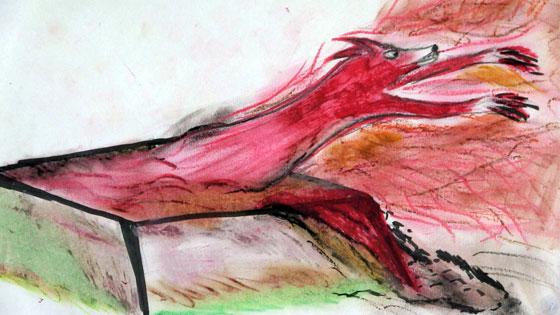 Vörösiszap-karasztrófa – rajz a falura ugró vörös rókáról