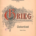 Eduard GRIEG - Osterlied / Easter song - régi kottagyűjteményünk becses darabja