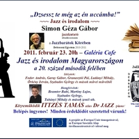 Jazz és irodalom - Simon Géza Gábor előadássorozata - 7. est  - közreműködik Ittzés Tamás!