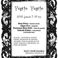 Venite Venite - régizenei koncert a Szent László templomban