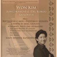 Won Kim szólóest - Universitas-Debrecen hangversenysorozat ráadáskoncert