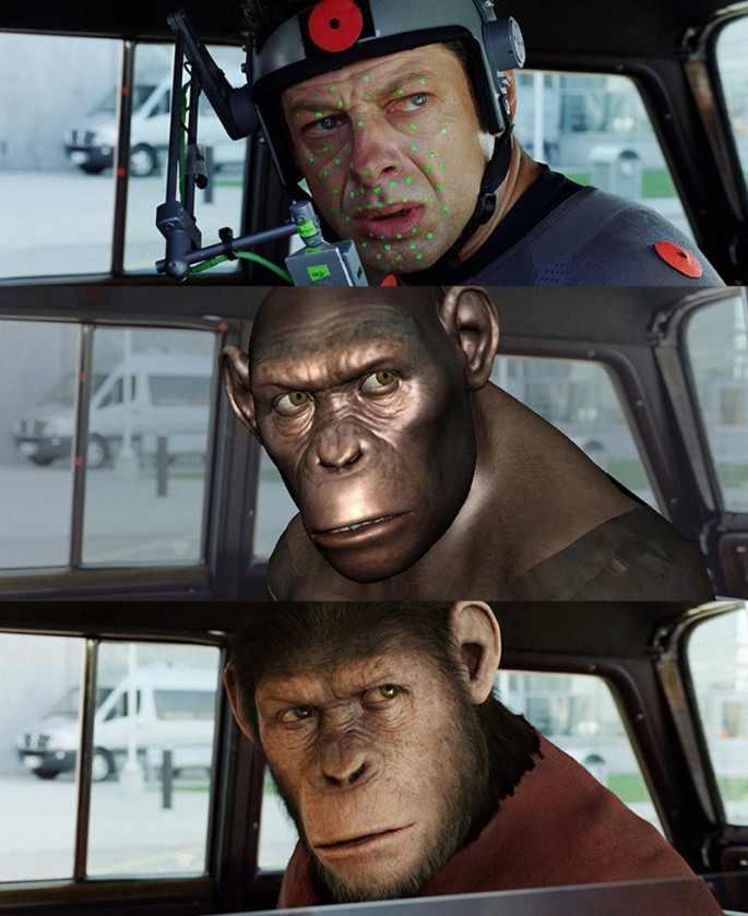 Andy Serkis A majmok bolygója: Lázadásban.
