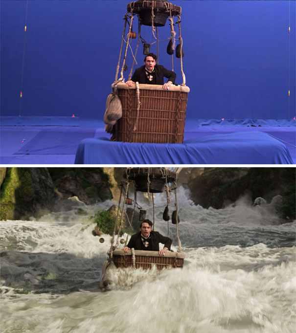 James Franco vízesés közelében sem járt az Óz, a hatalmas forgatásán.