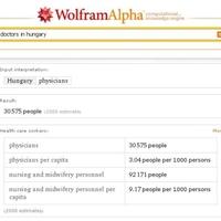 Magyar egészségügyi statisztikák a WolframAlpha-n