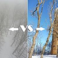 Panorámavadászat az első idei hóban - a Börzsöny és a Pilis csúcsán