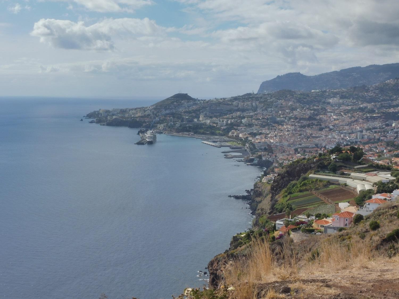Funchal a Miradouro do Pináculo kilátópontból