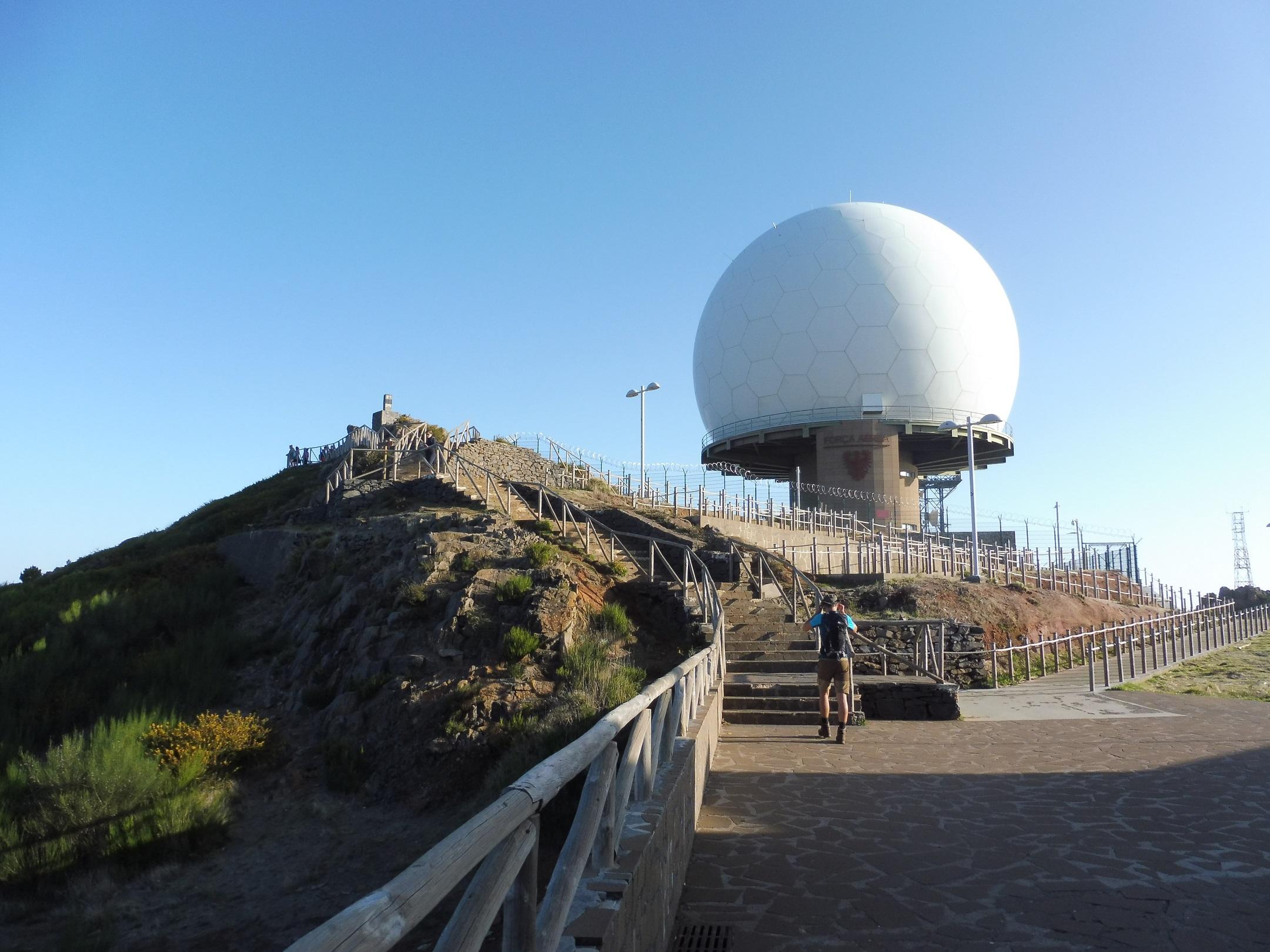 Pico do Arieiro radarállomása 1818 m-en