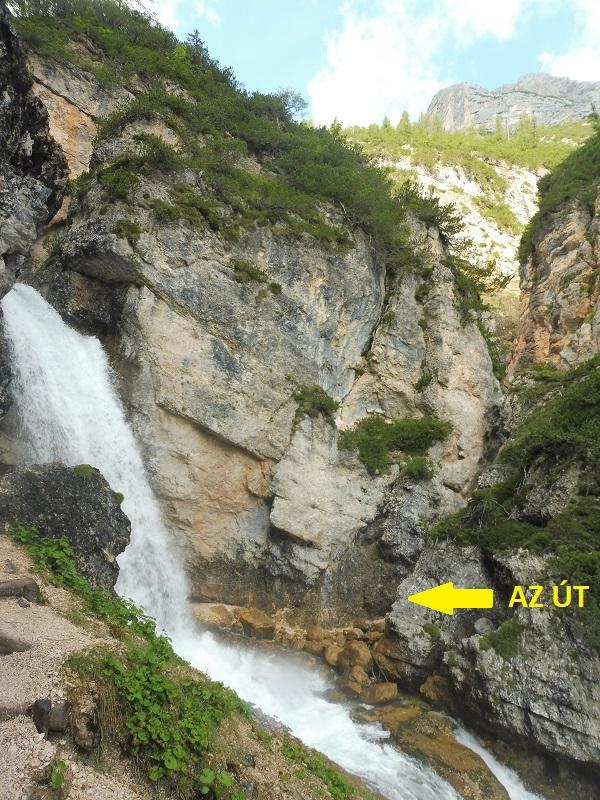 Alsó Fanes-vízesés